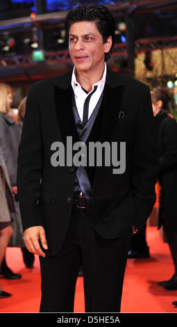 Bollywood actor Shah Rukh Khan arrives for the premiere of the film 'My Name Is Khan' during the 60th Berlinale - Stock Photo