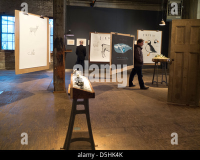 Invisible Dog art center in Brooklyn New York City - Stock Photo