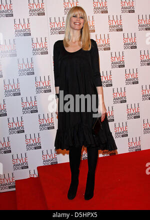 German model Claudia Schiffer arrives at the 2010 ELLE Style Awards at the Grand Connaught Rooms in London, Great - Stock Photo