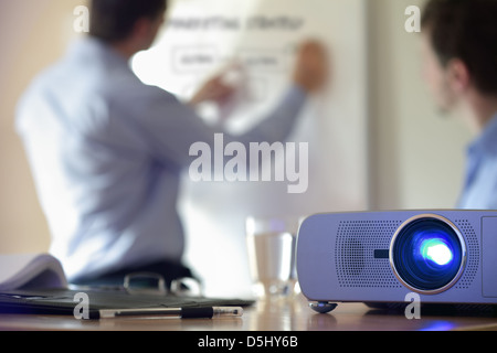 Presentation with lcd projector - Stock Photo
