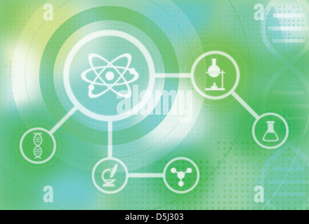 Illustration of scientific research and development - Stock Photo