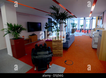 View of the lounge 'Cookies' at Google's Berlin office in Germany, 13 November 2012. The office opened recently - Stock Photo