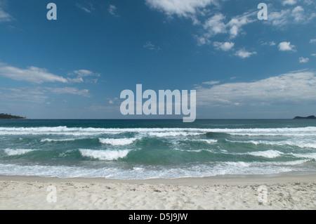 Greek island September Golden Beach Chrisi Ammoudia Skala Panagias - Stock Photo