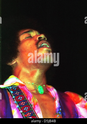 JIMI HENDRIX (1942-1970) US rock musician about 1968. Photo Jeffrey Mayer - Stock Photo