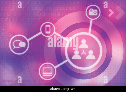 Illustration of social networking concept - Stock Photo