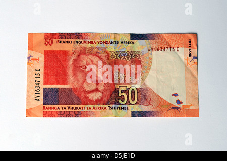 The newly designed South African 50 Rand bank note. - Stock Photo