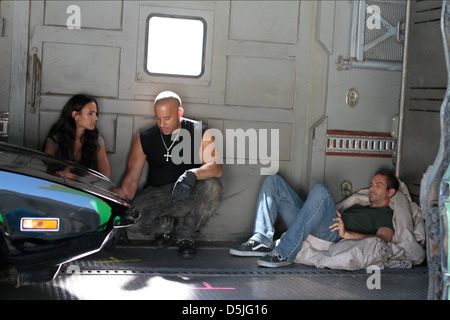 JORDANA BREWSTER VIN DIESEL & PAUL WALKER FAST FIVE (2011) - Stock Photo