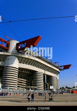 San Siro stadium on match day - Stock Photo
