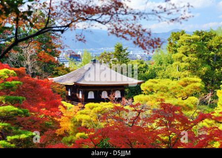 Temple of the Silver Pavilion in Kyoto, Japan. - Stock Photo