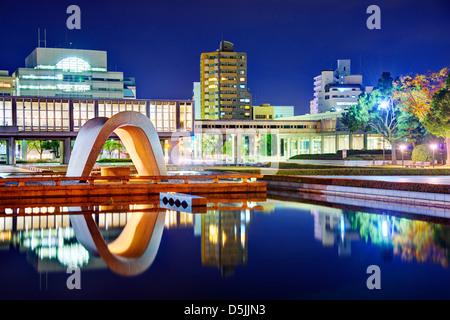 Hiroshima Peace Memorial Park in Hiroshima, Japan. - Stock Photo