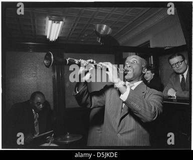[Portrait of Fess Williams and Freddie Moore, William P. Gottlieb's office party, Jamaica, Queens, New York, N.Y., - Stock Photo