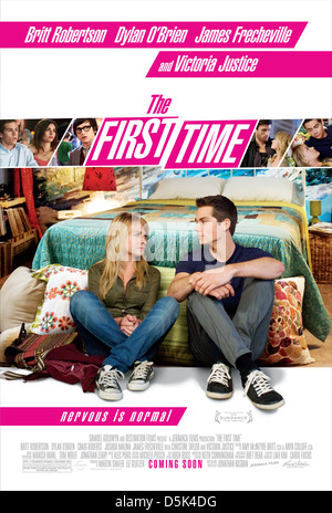BRITT ROBERTSON & DYLAN O'BRIEN POSTER THE FIRST TIME (2012) - Stock Photo