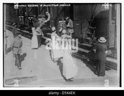Wounded arriving in Allenstein, Prussia (LOC) - Stock Photo