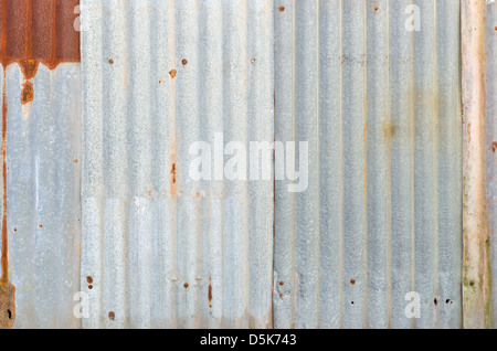 Rusty zinc wall for background - Stock Photo