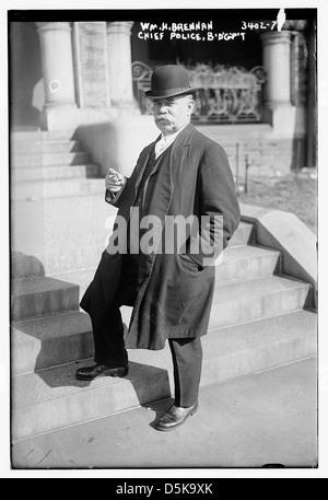 Wm. H. Brennan, Chief Police, B'd'g'p't [i.e., Bridgeport] (LOC) - Stock Photo