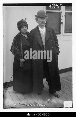 I.J. Paderewski and wife (LOC) - Stock Photo