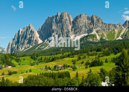 View of the Dolomites near Cortina d'Ampezzo, Italy - Stock Photo