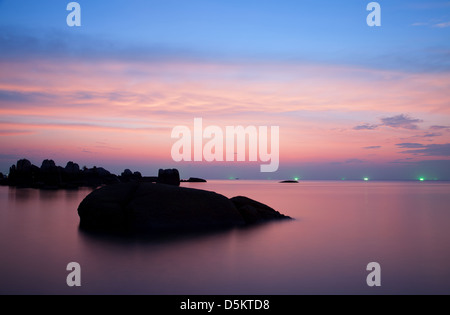Sunset on Koh Tao island, Thailand - Stock Photo