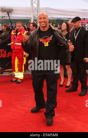 Dwayne Johnson aka The Rock at the German premiere of 'Fast & Furious Five' at Cinedom im Mediapark movie theatre. - Stock Photo