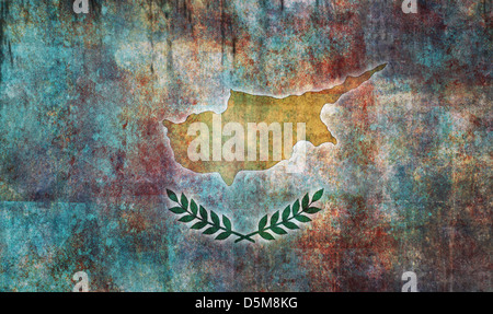 Flag of Cyprus overlaid with grunge texture - Stock Photo