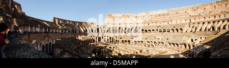 Panoramic view of the interior of Colosseum. - Stock Photo