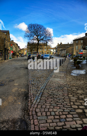 Grassington The Upper Wharfedale village square Yorkshire Dales, UK, England - Stock Photo