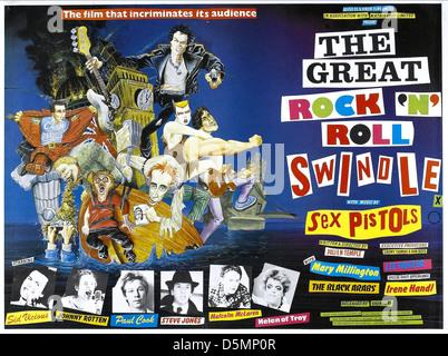 MOVIE POSTER THE GREAT ROCK 'N' ROLL SWINDLE (1980) - Stock Photo