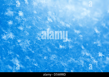 blue snowflakes background close up - Stock Photo
