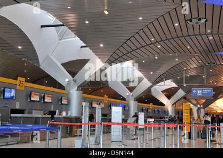 check-in hall of Lyon Satolas Saint Exupery airport France - Stock Photo