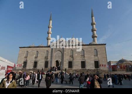 The New Mosque (Yeni Cami) in Eminönü, Istanbul - Stock Photo