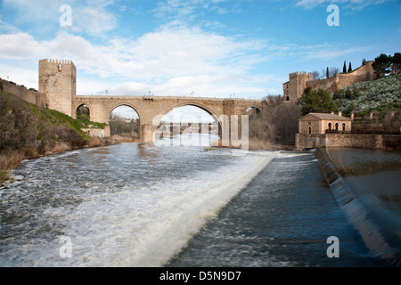 Toledo - Puente de san Martin bridge - Stock Photo