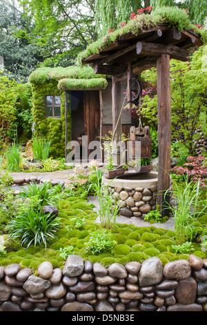 Satoyama Life Garden at RHS Chelsea Flower Show 2012. - Stock Photo