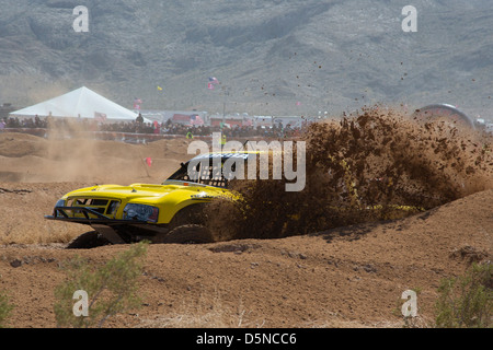 Jean, Nevada - The Mint 400 off-road auto race through the Mojave Desert near Las Vegas. - Stock Photo