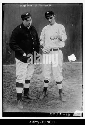 [Libe Washburn with Rube Marquard, New York, NL (baseball)] (LOC) - Stock Photo