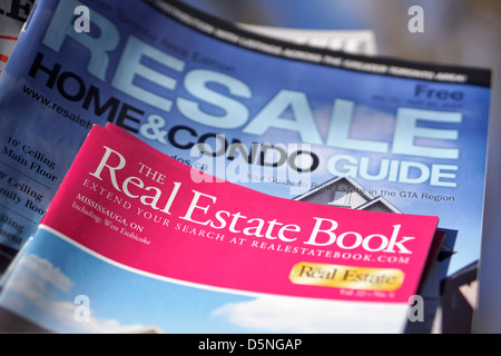 Real Estate, Homes Condos Land for Sale, Resale Booklets, Ontario, Canada - Stock Photo
