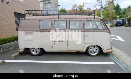 An old VW (Volkswagen) van. - Stock Photo