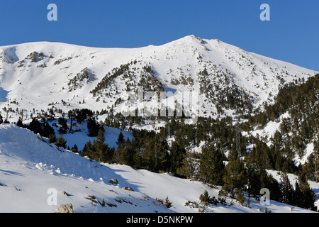Ski resort area near Vallter 2000 in the Spanish Pyrenees, - Stock Photo