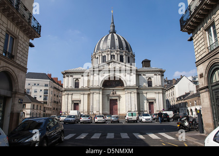 A general view of the church of Notre-Dame de Bon-Port in Nantes, France - Stock Photo
