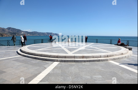 Balcon de Europa in Nerja, Province of Malaga, Andalusia Spain - Stock Photo