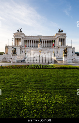 Altar of the Fatherland in Rome, Italy - National monument to Vittorio Emanuele II (Victor Emmanuel II) - Stock Photo