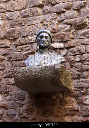 Bust of Dante - Stock Photo