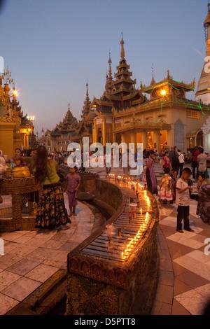 Shwedagon paya, Yangon, Myanmar - Stock Photo