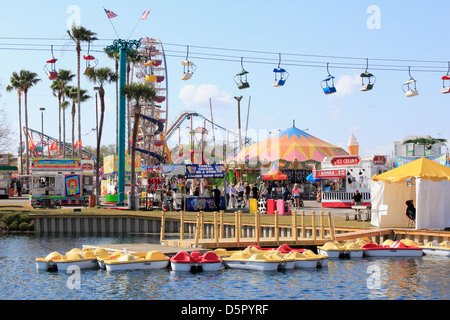 The Florida State Fair in Tampa Florida USA - Stock Photo