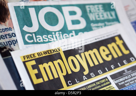 Jobs Employment Classifieds Newspaper, Ontario, Canada - Stock Photo