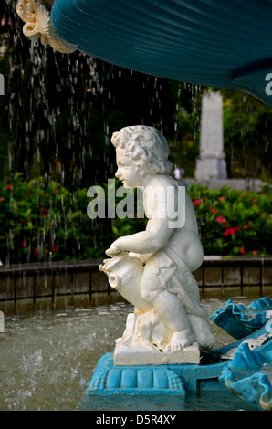 Muse detail from Victorian fountain - Stock Photo
