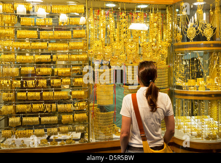 Jewellery Shop In The Gold Souq Of Mutrah Old Muscat Oman