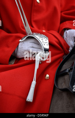 Lifeguard of the Queens Household Cavalry - Stock Photo