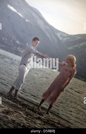 a couple at the beach - Stock Photo