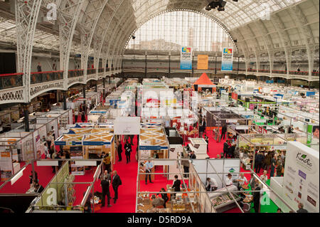 London, UK. 8th April 2013. Olympia, London, holding The Natural Food Show, Natural Beauty & Spa, Natural Living - Stock Photo