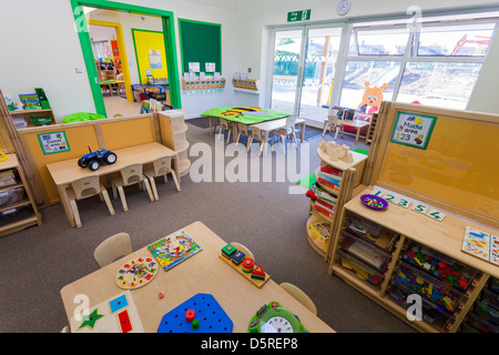 Whitley Park Nursery School  unoccupied infant classroom - Stock Photo